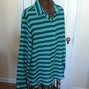 Banana Republic striped blouse new with tag extra